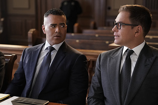 Dr. Jason Bull (Michael Weatherly) und Chunk Palmer (Christopher Jackson) <br>
